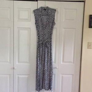 New Talbots Women's Long Dress with Sash